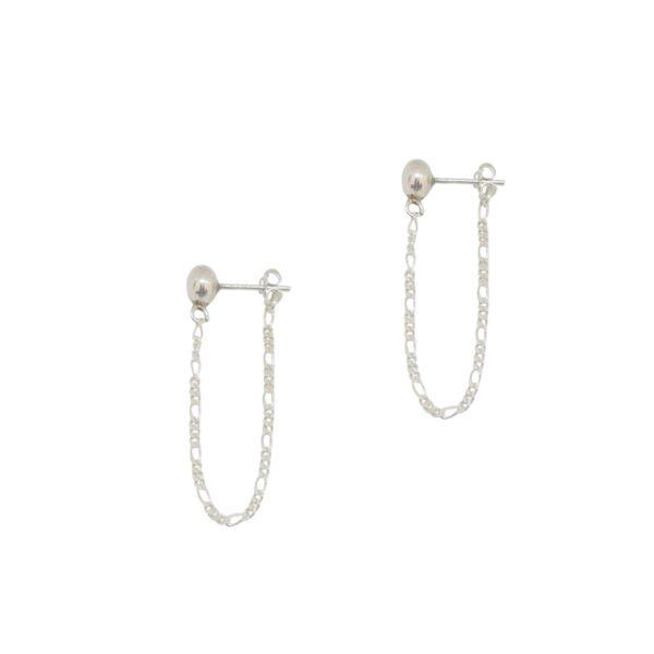 Enosis II silver earrings